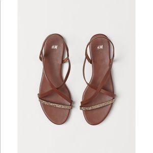 H&M glitter strappy sandals